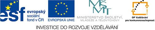 Logo operačního programu Vzdělávání pro konkurenceschopnost